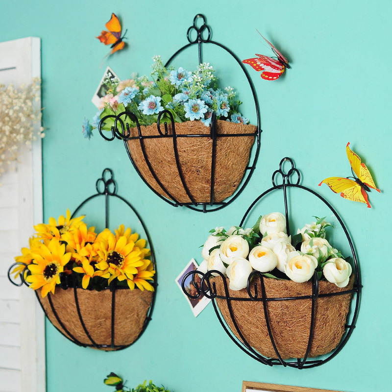Aliexpress.com : Buy New Metal Hanging Basket Wall Flower ... on Decorative Wall Sconces For Flowers Hanging Baskets Delivery id=61197