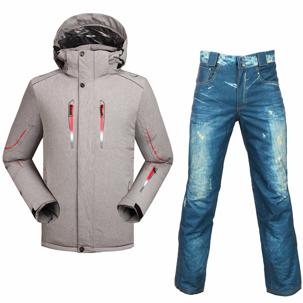 Saenshing Snow Ski Suit Men Super Warm Waterproof 10K Ski Jacket Skiing Pant male Snowboarding Suits Breathable skiing Sets цена и фото