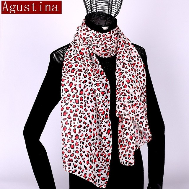 Women scarf chiffon leopard print sjaal poncho scarfs winter hijab shawl animal brand luxury satin ponchos capes coat warm schal 5