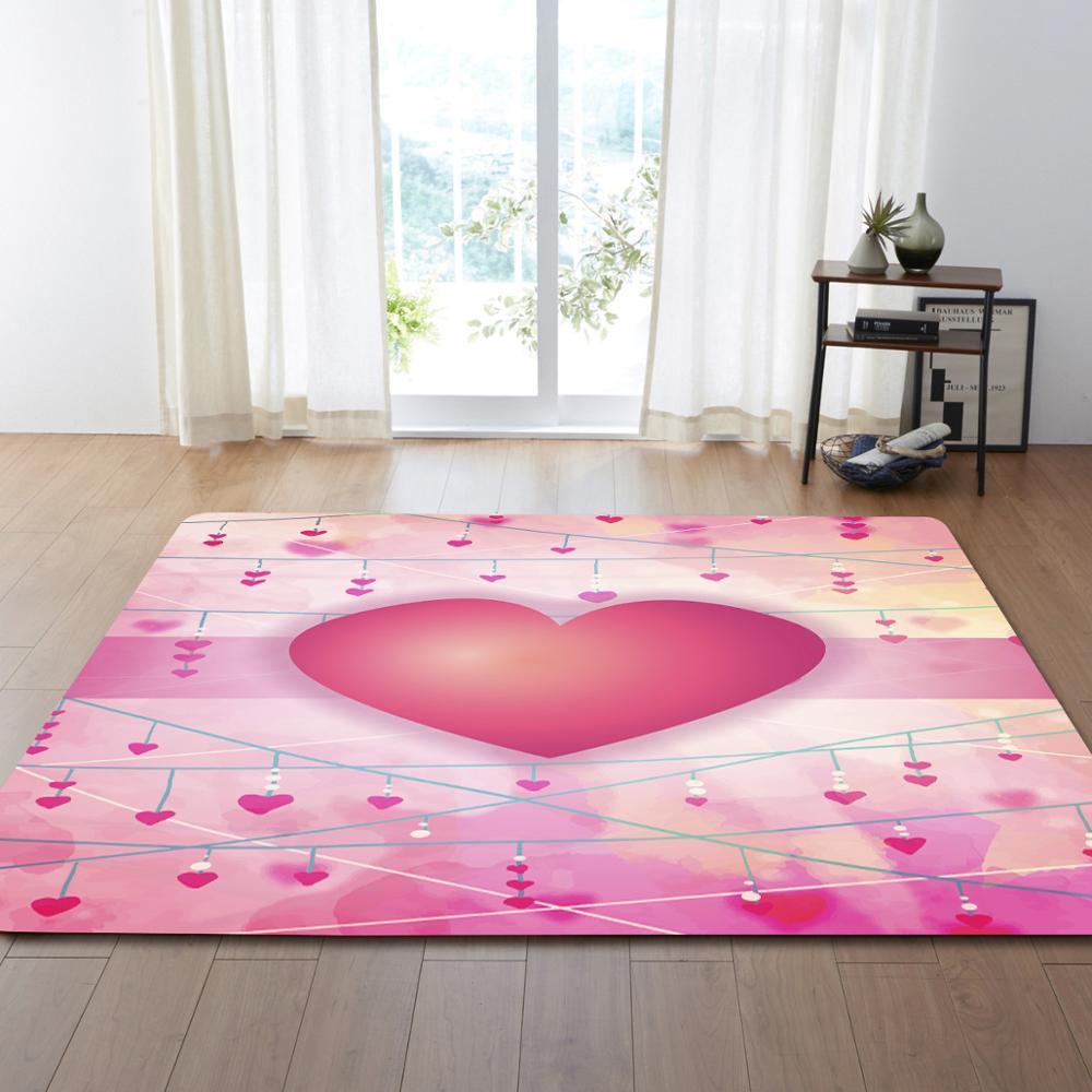 Nodic Love coeur impression tapis couloir paillasson anti-dérapant grand tapis tapis enfant jouer jeu Pad pour salon chambre décor à la maison