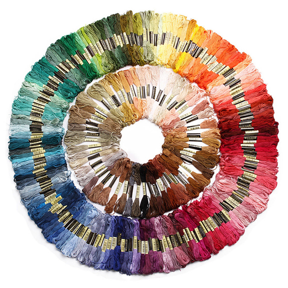 1pcs lot 447 Color Cross Stitch Thread Pattern Art Colors Kit Floss Skeins Chart Embroidery New Free Shipping in Floss from Home Garden