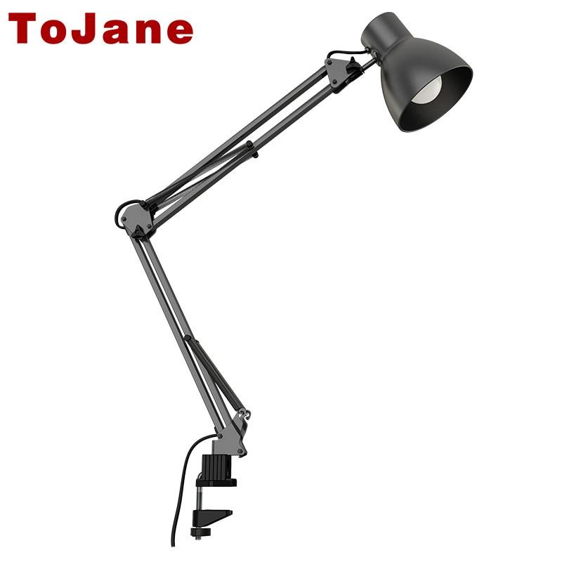 ToJane TG801 LED Flexible Lamp Swing Arm Desk lamp Adjustable Folding Metal Twin-Arm Clip-on Clamp LED Desk Lamp Table Lamp цена