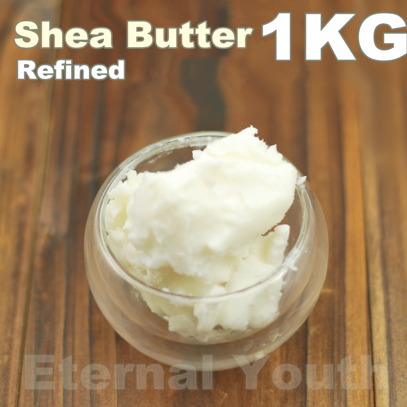 ORGANIC Refined Shea Butter 1000g 1KG Exquisite Shea Grease Skin Care Equipment egomania shea nut butter conditioner