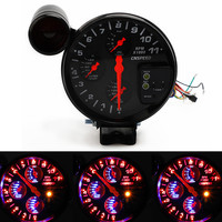 Car universal 5Inch 4in1 multifunction tachometer water temperature sensor oil temperature oil pressure gauge auto accessories