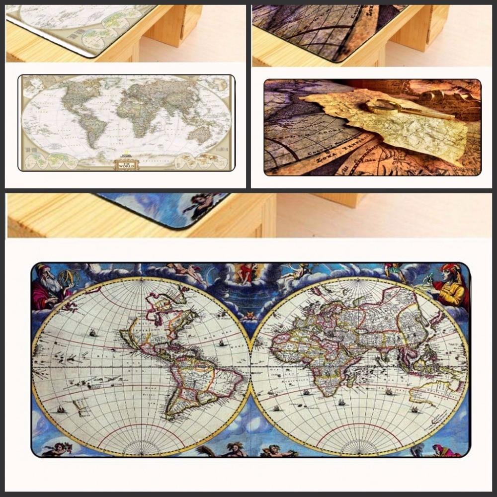 Yuzuoan Free Shipping Large Overlock Gmaing mouse pad World map mouse mat large mousepad custom mouse pad desk mat for Cs Go/Dot
