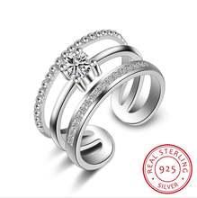 Женское регулируемое кольцо из серебра 925 пробы в стиле ретро