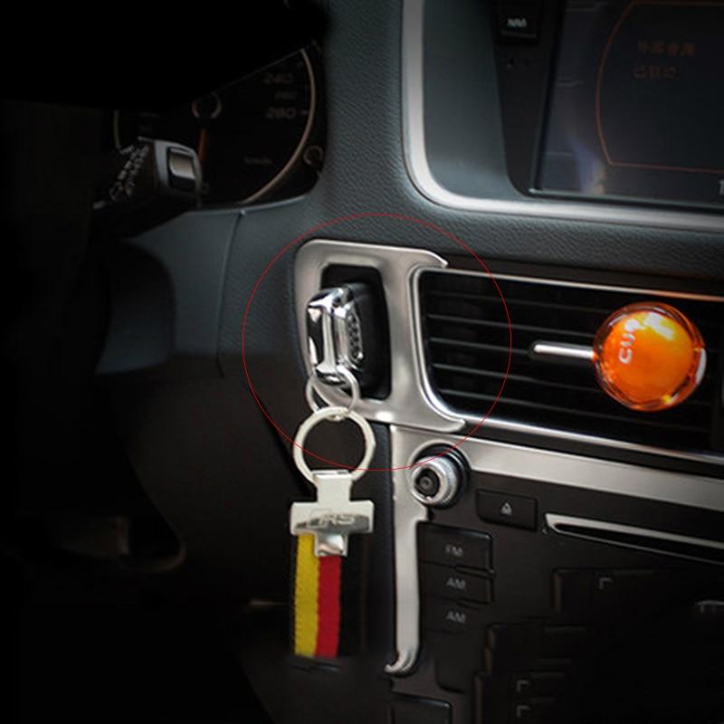 Из нержавеющей стали интерьер автомобиля замочную скважину декоративная Крышка отделка автомобиль аксессуары хром 3D наклейка для Ауди Q5 2008-2015