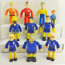 10pcs/bag British Cartoon Anime Firemen Sam Steele Elvis Penny Norman Thomas Action Figures Figurine Decor children toys gift