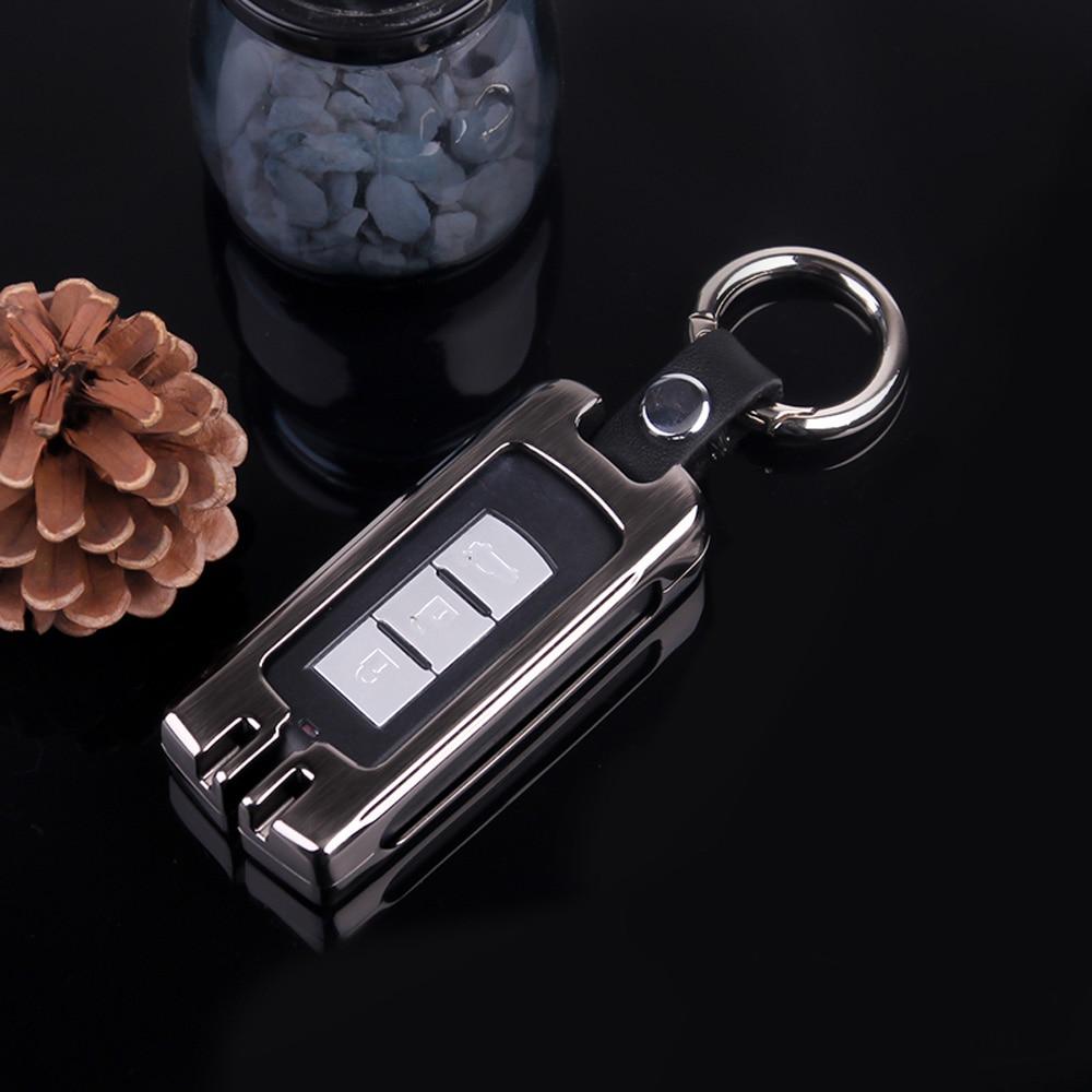 цена на ATOBABI Zinc Alloy Car Smart Key Cases Auto Key Holder For Mitsubishi Outlander Lancer 10 Pajero Sport ASX RVR L200 Smart Key