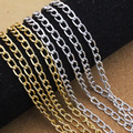 5 Meters/lot 4.5*8*1mm Silver /Gold Aluminum Bulk Chain Necklace Chain For Jewelry Making DIY Material Findings F1645