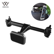 XMXCZKJ Magnetic Back Seat Car Holder Mobile Cell Phone Stand Support For iPhone Smartphone Magnet Head Headrest Car Accessories