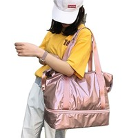 High Quality Waterproof Anti scratch Women Gym Bag Multifunctional Outdoor Travel Hand Bag with Shoes Compartment 3 Colors