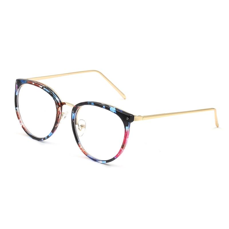 Decoração do vintage Óculos Ópticos Quadro miopia mulheres redondas de metal  óculos óculos oculos de grau óculos oculos de grau feminino armação em  Armações ... 635692b5ee