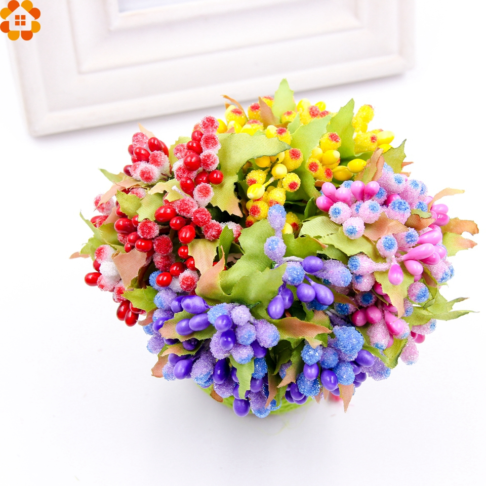 10pcs mini artificial stamen bud bouquet diy flower handmade flower 10pcs mini artificial stamen bud bouquet diy flower handmade flower bouquet wedding decoration wreath craft fake flower in artificial dried flowers from izmirmasajfo Image collections