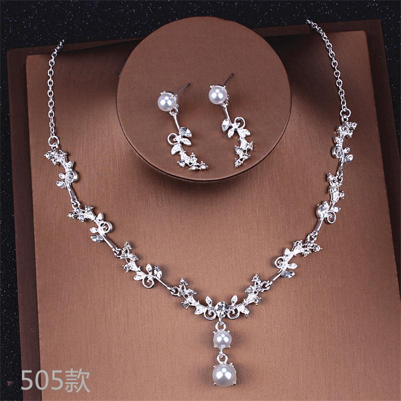 Alexzendra Silver Color Beads Crystals Bridal Jewelry Flower Shape New Wedding Necklace Engagement Jewelry for Women