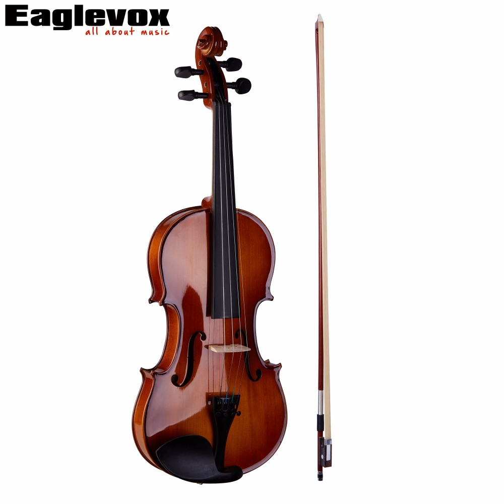 Maple 3/4 Violin Pinus Bungeana Top Maple Back and Sides with Case Bow Rosin violins professional string instruments violin 4 4 natural stripes maple violon master hand craft violino with case bow rosin
