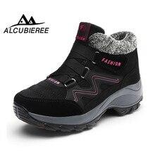Купить с кэшбэком Winter women snow boots women warm push ankle boots female high wedge waterproof Boots shoes winter boots women ankle waterproof
