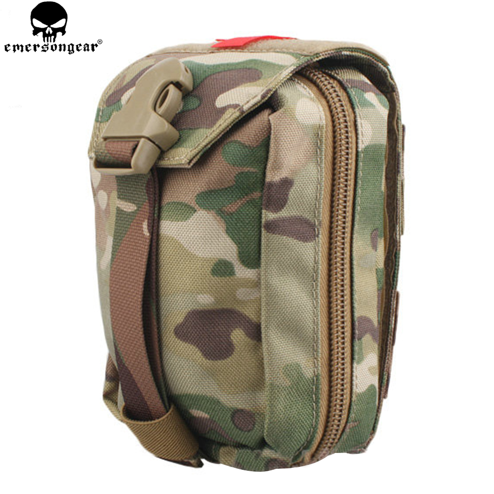 EMERSONGEAR Tactical Ehbo Pouch Molle Kit Medical Bag Military Utility Pouch Paintball EDC Bag Multicam Black EM6368