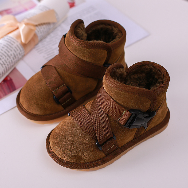 Detail Feedback Questions about ULKNN 2018 Kids Winter Warm Plush Snow Boots  Toddle Girls Ankle Boots Boys Casual Shoes Velvet Soft Children School  Buckle ... aca6ddf1ac2d