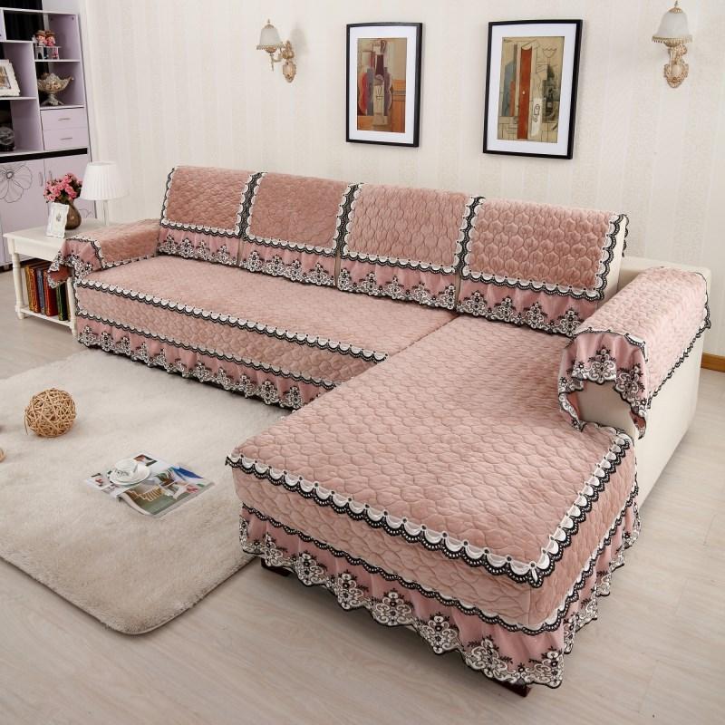 New Design Sofa Slipcover Mat Elegant European Style Rose Seat Couch ...