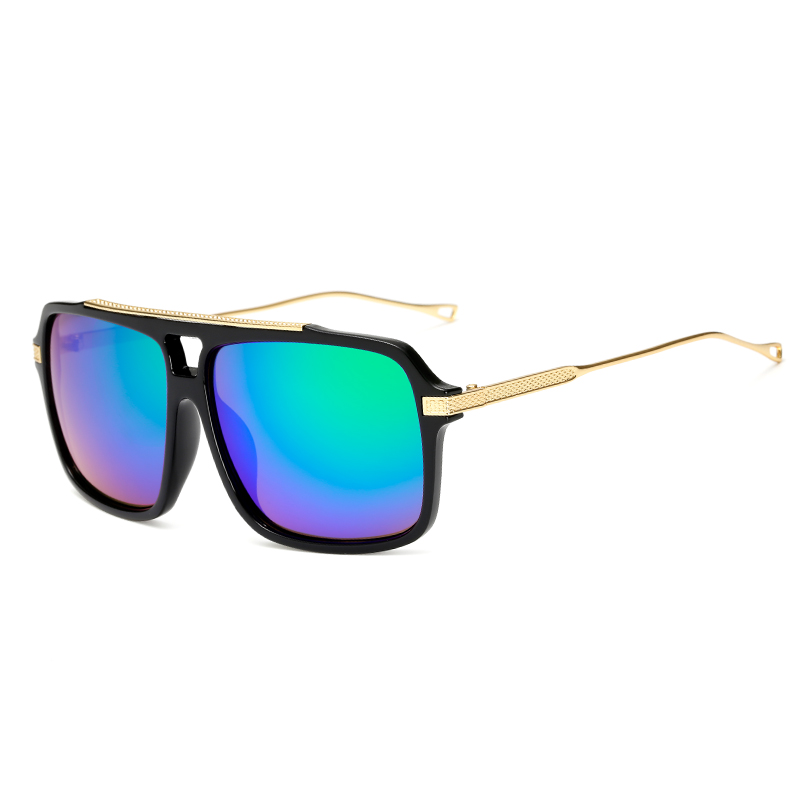 LongKeeper Flat Top Hot Square Sunglasses Men Brand Design Couple Sun Glasses Super Sstar Eyewear Occhiali da sole KP18003