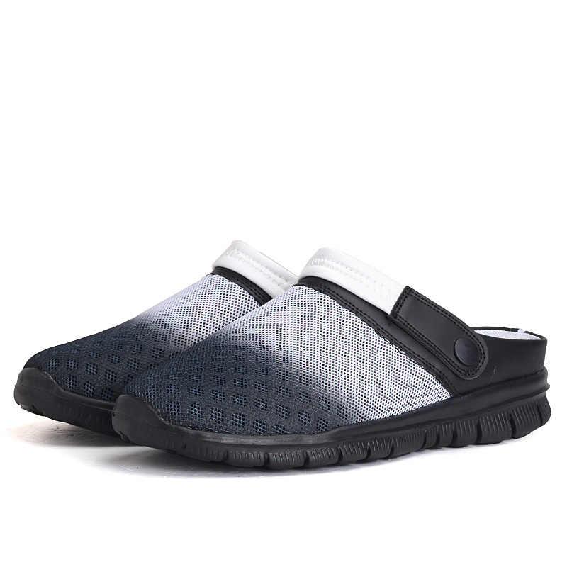 Мужская Летняя обувь; модные кроссовки; Новинка 2019 года; дышащая мужская повседневная обувь из сетчатого материала; слипоны