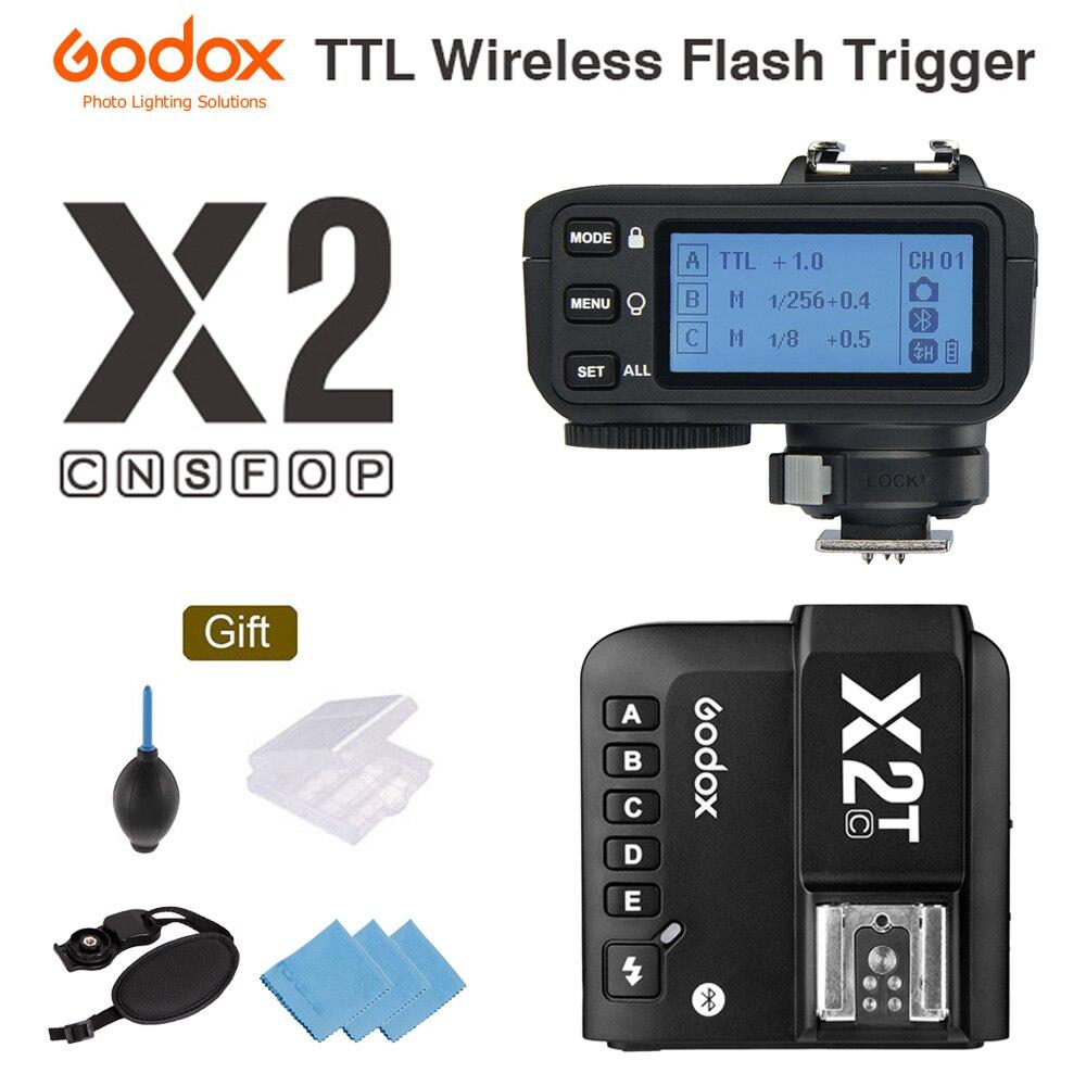 Godox X2T-C X2T-N X2T-S X2T-F X2T-O TTL беспроводной триггер вспышки для камеры Canon Nikon Sony Bluetooth соединение HSS