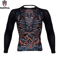 Martial Scorpio Sublimation Mma Rashguards Bjj Jersey Boxing Compression Tights Running T Shirt Men Sport Top