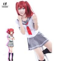 ROLECOS Japanese Anime Love Live Sunshine Cosplay Costume Takami Chika Girls Sailor Uniforms Love Live Aqours