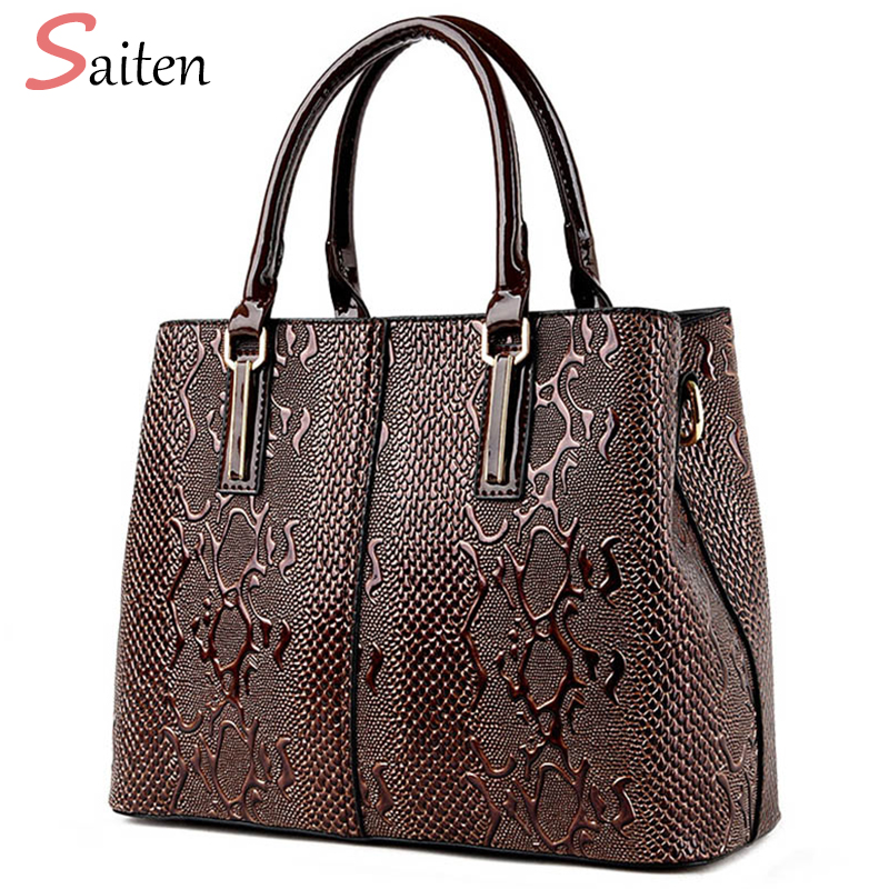 Luxury Handbags Women Bags Designer Ladies Leather Snake Shoulder Bag Famous Brand Hand Bags High Quality Women Casual Tote Bag