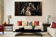 diego rodriguez футболка giant poster classical portrait canvas painting picture from Velazquez Diego Rodriguez  The Family of Felipe IV or Las Meninas