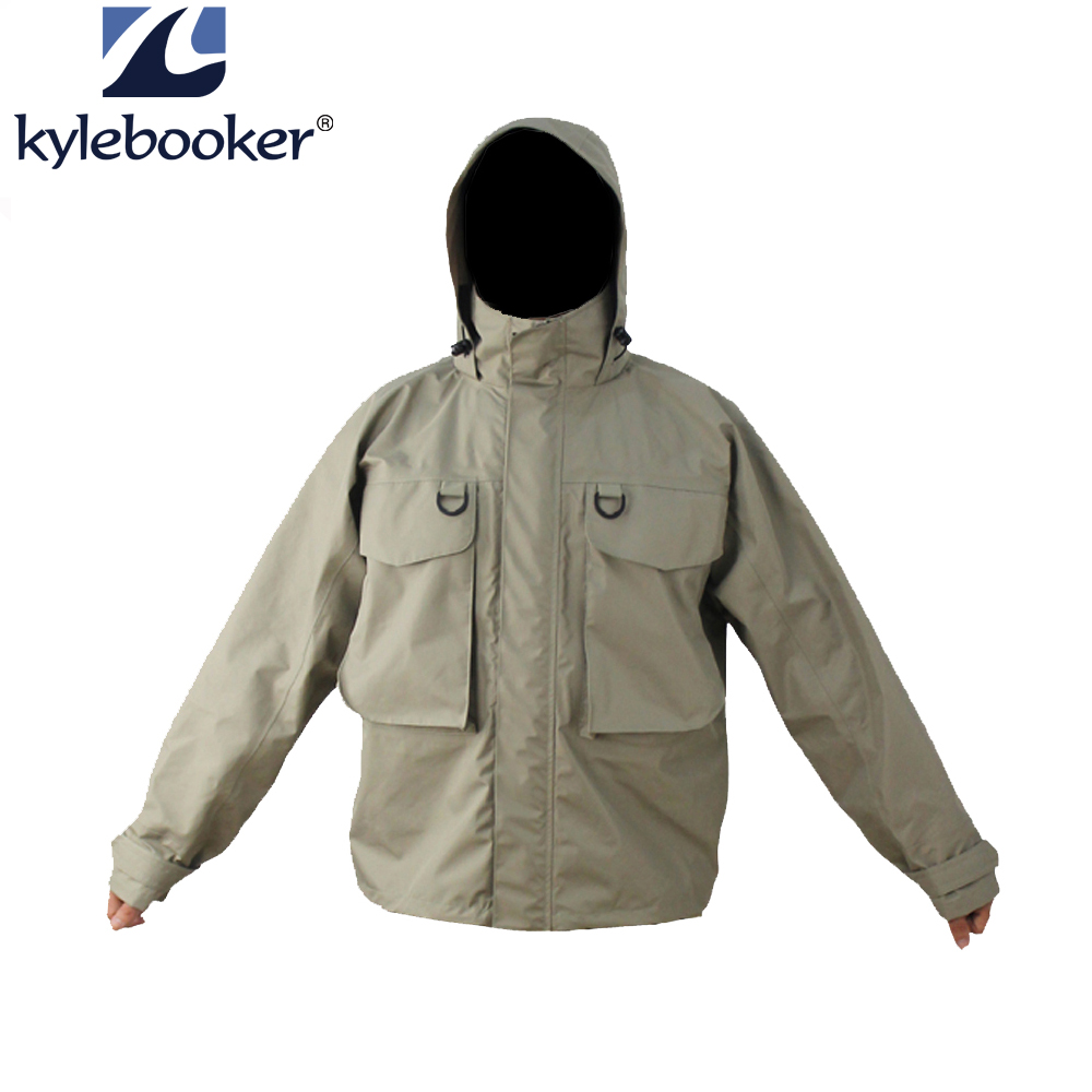 New Men's Breathable Fly Fishing Wading Jacket Waterproof Fishing Wader Jacket Clothes Outdoor Hunting Fishing Clothing outdoor waterproof camo fly fishing hunting breathable waders wading jacket tactical sniper suit clothing fishing clothes