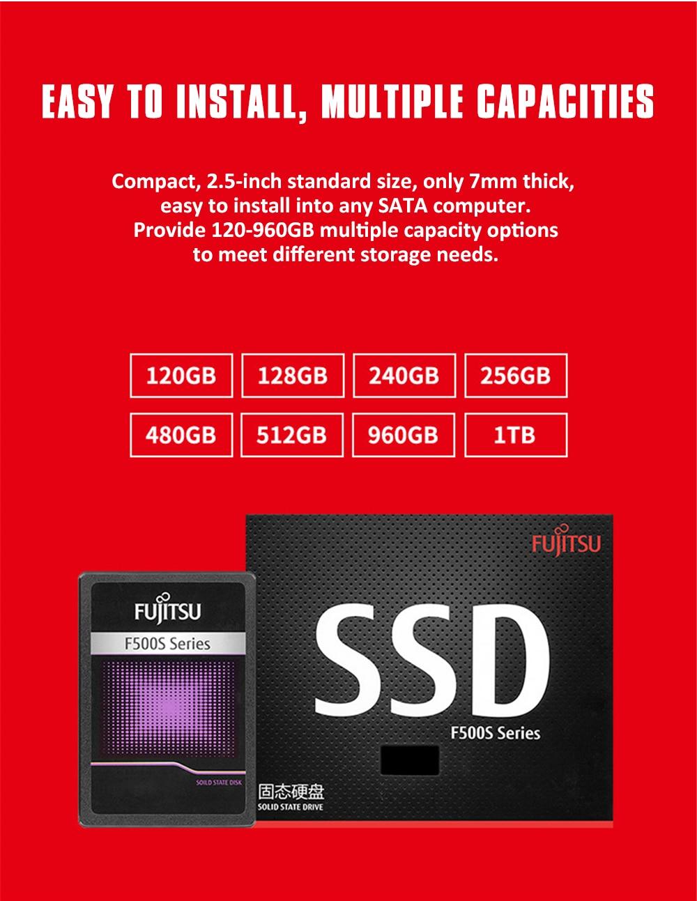 "FUJITSU 2.5"" ssd 1tb sata3 ssd 1024G 3D NAND Flash SMI/Phison/Realtek TLC ssd hard drive Solid State Drives for desktop laptop 20"