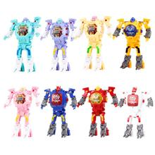 Childrens Creative Deformable Watch Transformers Toys Electronic Display Robot Educational