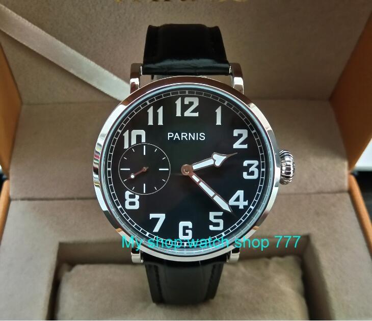 46mm parnis Black dial Asian 6497 17 jewels Mechanical Hand Wind movement men watch luminous Mechanical watches zdgd240A limited edition watch 50mm big dial parnis men s watch asian 6498 mechanical hand wind pvd black watchcase 84aa