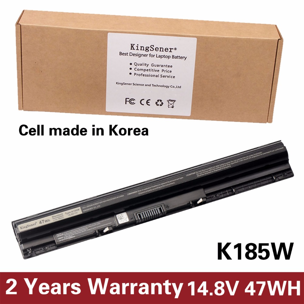 Korea Cell New K185W Battery For DELL 3451 3551 3458 5458 3551 3558 5451 5455 5551 5555 5558 5758 K185W M5Y1K WKRJ2 GXVJ3 HD4J0 ноутбук dell inspiron 3558 3558 5216