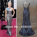 Naomi Watts Celebrity Dresses Long Evening Dresses 85th Oscar Silver with Sequins Best Dressed Real Images Red Carpet Dresses