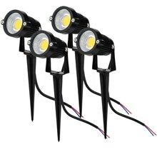85-265 в светодиодный светильник для лужайки, Водонепроницаемый COB наружный садовый светильник, зеленый, желтый, красный, синий, белый светодиодный светильник для сада