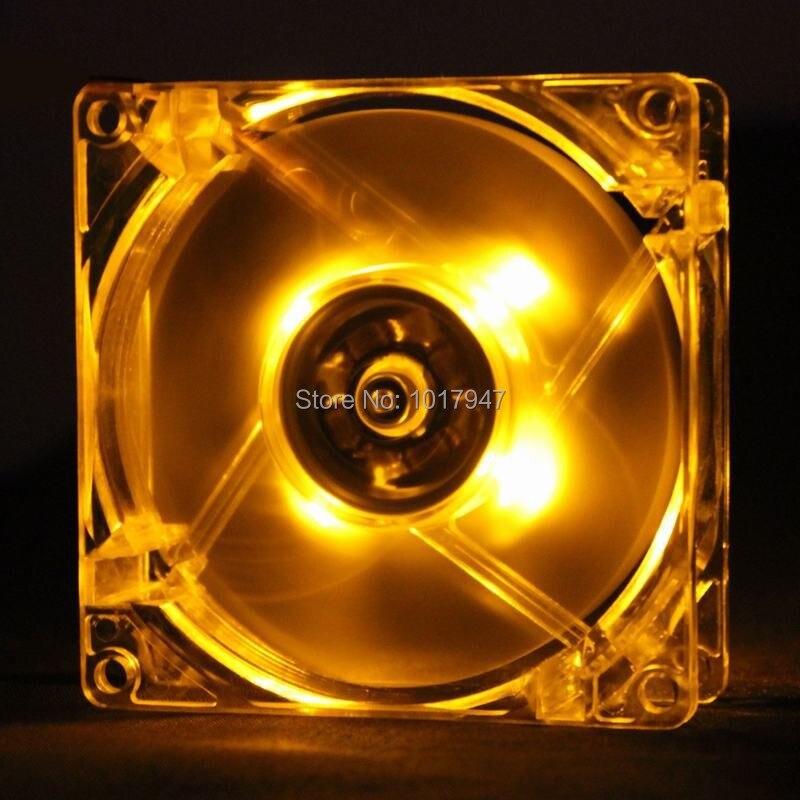 20 штук много gdstime желтый 12025 120 мм 12 см 120 мм* 120 мм* 25 мм 4PIN компьютер pc светодиодный радиатора Вентилятор охлаждения