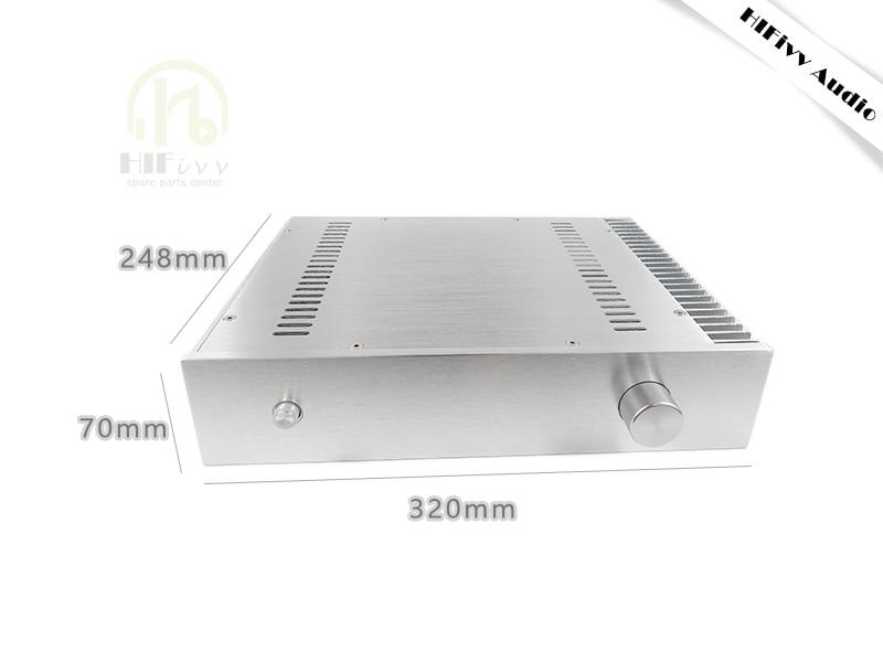 Aluminum case BZ3207 C5200 a1943 933 ksa 100 Amplifier case big Box class A amplifier alumium chassis size 320*70*248mm krell ksa100 c5200 a1943 260w 2 class ab power amplifier board