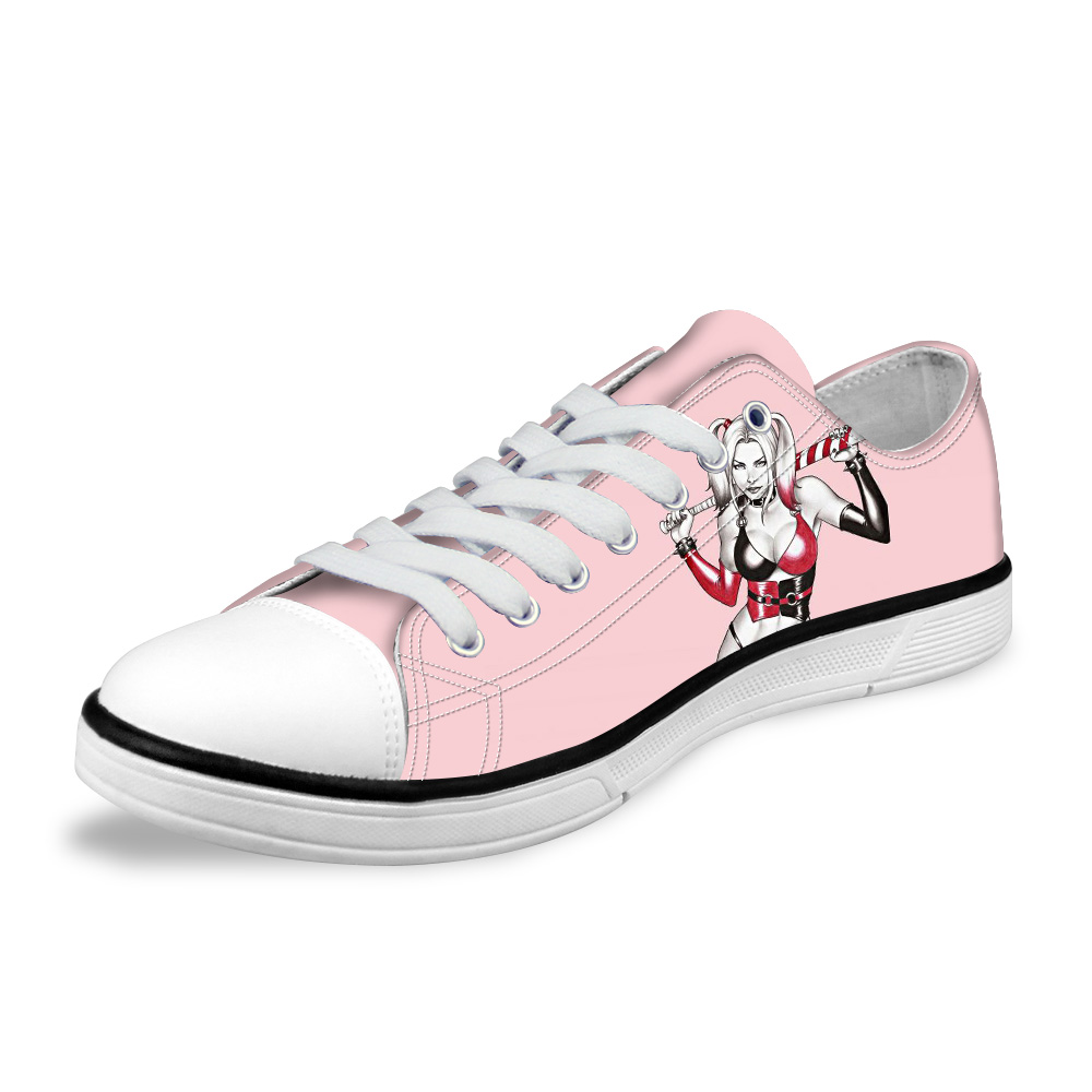 9f3fd358525e53 ... Classic Low Style Canvas Shoes Joker and Harley Quinn Printed ...