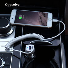 USB Car Charger Car-charger Micro USB Type C Cable For Samsung S9 S10 S8 S7 Plus Xiaomi Huawei Quick Charge Mobile Phone Adapter цена в Москве и Питере