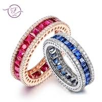 925 пробы серебряные круглые с прозрачный Циркон синий шпинель Винтаж античное кольцо для Для женщин ювелирные украшения