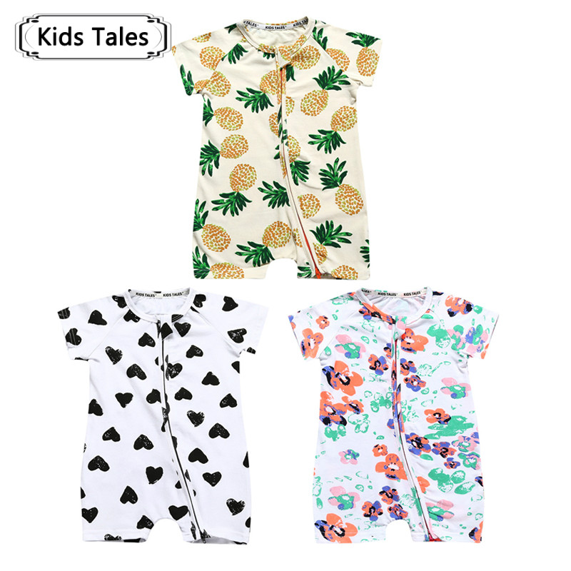 3pcs/lot Baby Overalls for Newborns Boys Clothes Girls Short Sleeve Childrens Clothing Roupa Infantil Body Bebes Jumpsuit SR282