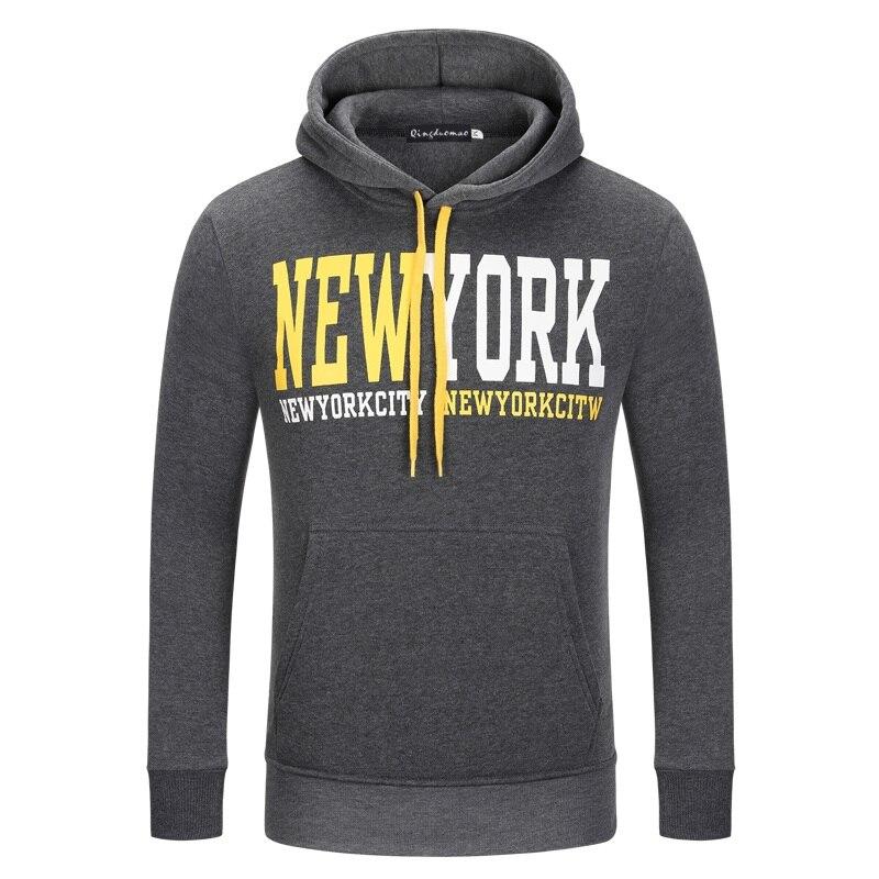 Envmenst Brand 2017 New Designed Letter Printed men Hoodies with hat fleece casual loose mens hoodies and sweatshirts