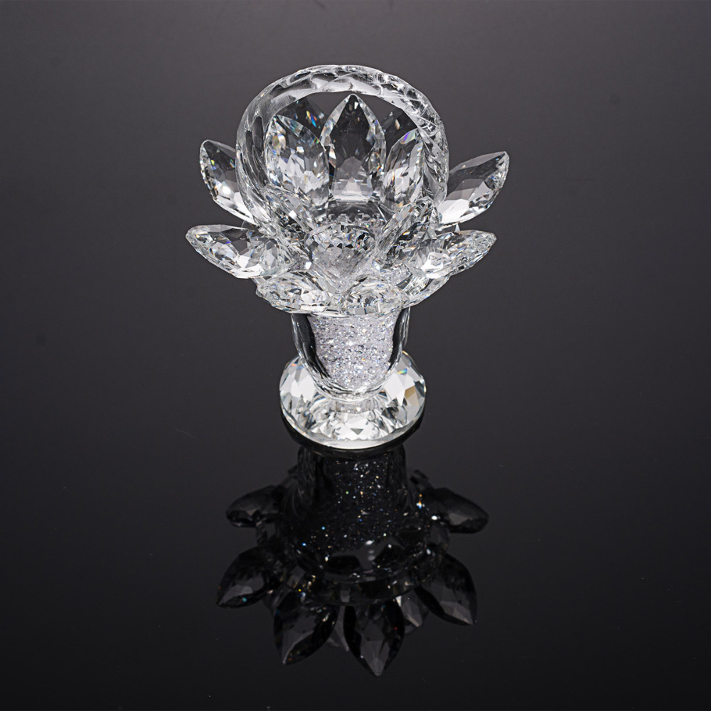 Aliexpress Com Buy Home Utility Gift Birthday Gift Girlfriend Gifts Diy From Reliable Gift Diy: Aliexpress.com : Buy Crystal Lotus Flower Basket Ornament