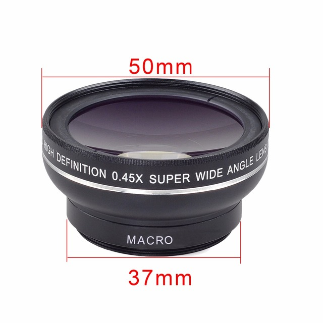 New HD 37MM 0.45x Super Wide Angle Lens with 12.5x Super Macro Lens for iPhone 6 Plus 5S 4S Samsung S6 S5 Note 4 Camera lens Kit 1