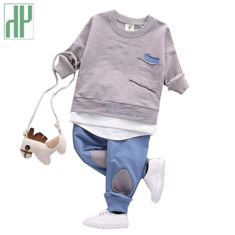 все цены на Children clothing baby Autumn baby boy clothes cheap long sleeve boutique outfits 1 2 3 year casual toddler girls clothing sets