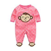 Rompers Baby Bodysuits Bodysuit Infants Girls Long Sleeves 3-12 Months