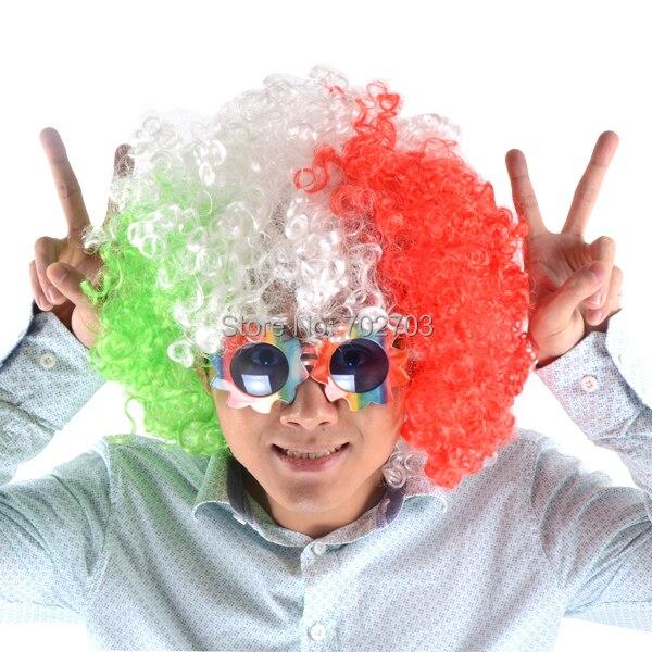 Erwachsene und Kinder Multicolor Farbe kurze lockige Afro Haare - Partyartikel und Dekoration - Foto 4